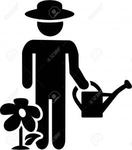 40899097-Jardinage-Jardinier-pictogramme-Banque-d'images