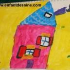 le dessin de la maison…